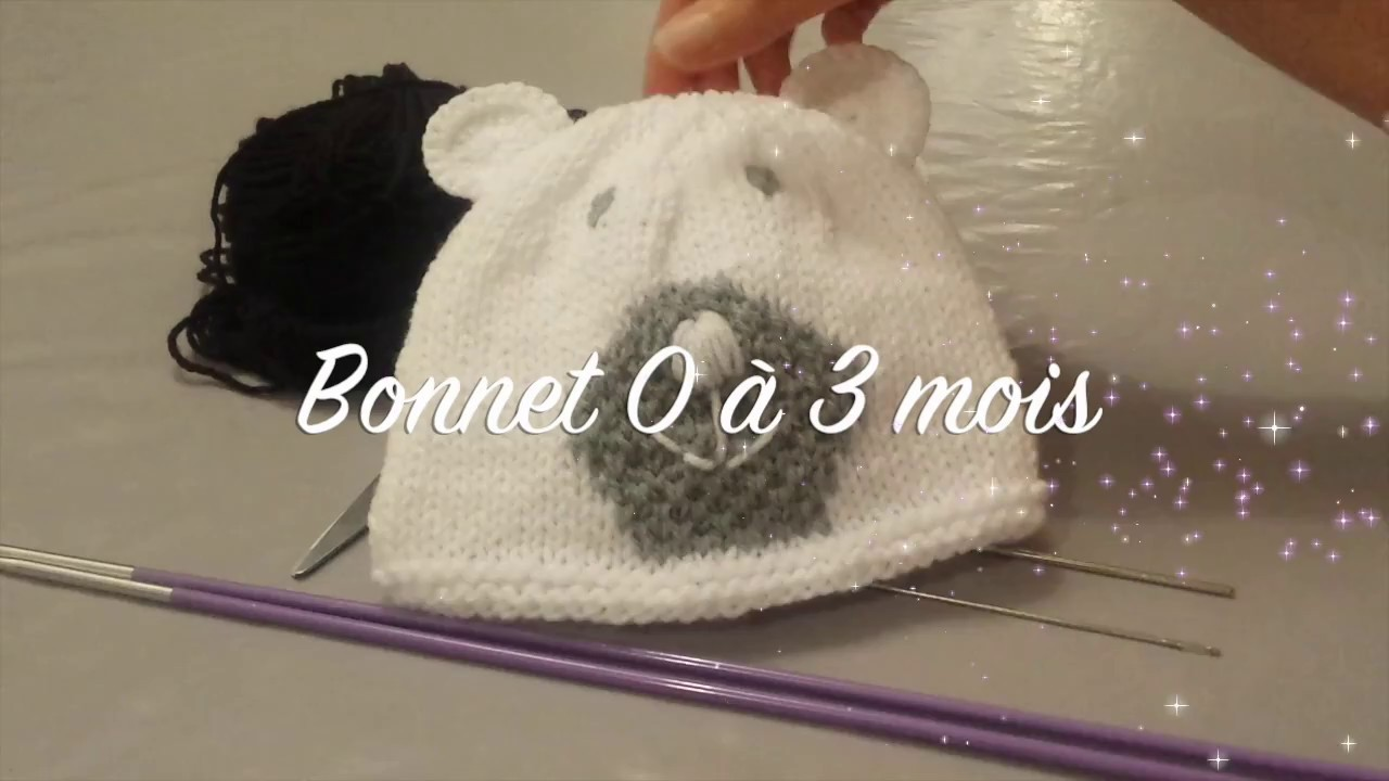 Bonnet Ours Bébé - YouTube afee286f496