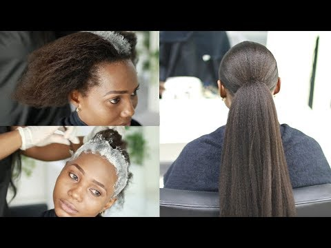 Transforming Her DAMAGED Relaxed Hair... Don't Relax Your Hair At Home | Protective Styling