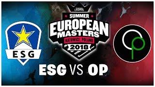 Viertelfinale European Masters Highlights + Interview   ESG vs OP   LoL