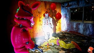 PENNYWISE HAS TAKEN TOY CHICA! (GTA 5 Mods For Kids FNAF RedHatter)