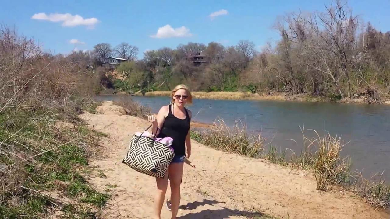 Hidden Beach Or Secret On The Colorado River Austin Texas