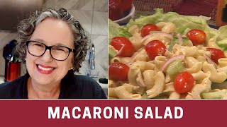 How To Make Macaroni Salad - Easy Macaroni Salad -- The Frugal Chef