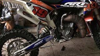 KTM 65 SX 2017 with Creampie racing muffler made in Indonesia