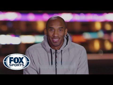 Kobe congratulates Ben Wallace on jersey retirement
