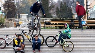 Street DH Urban ride on Winter