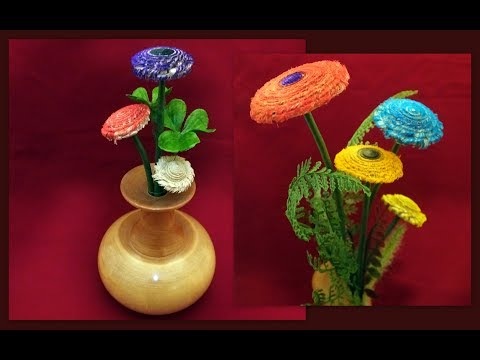 How To Turn Wood Flowers