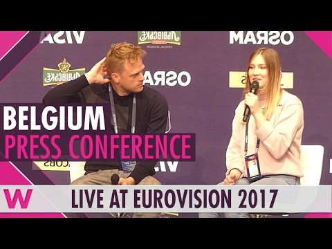 "Belgium Press Conference — Blanche ""City Lights"" Eurovision 2017 
