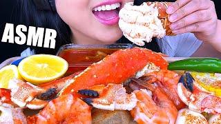 ASMR LOBSTER + KING CRAB  BLOVESLIFE SEAFOOD BOIL SAUCE (NO TALKING) *EATING SOUNDS* | ASMR Phan