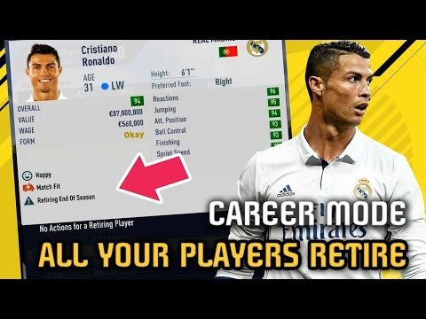 What Happens IF ALL YOUR PLAYERS on your Team RETIRE? - FIFA 17 Career Mode