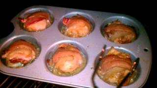 Smoked Muffin Pan Chicken Wrapped In Bacon.