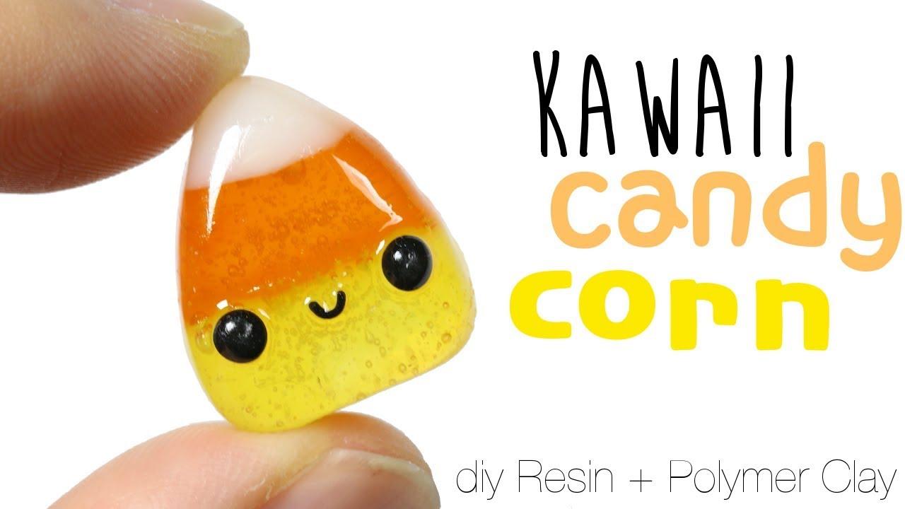 How to DIY cute/kawaii Halloween Candy Corn Polymer Clay/Resin ...
