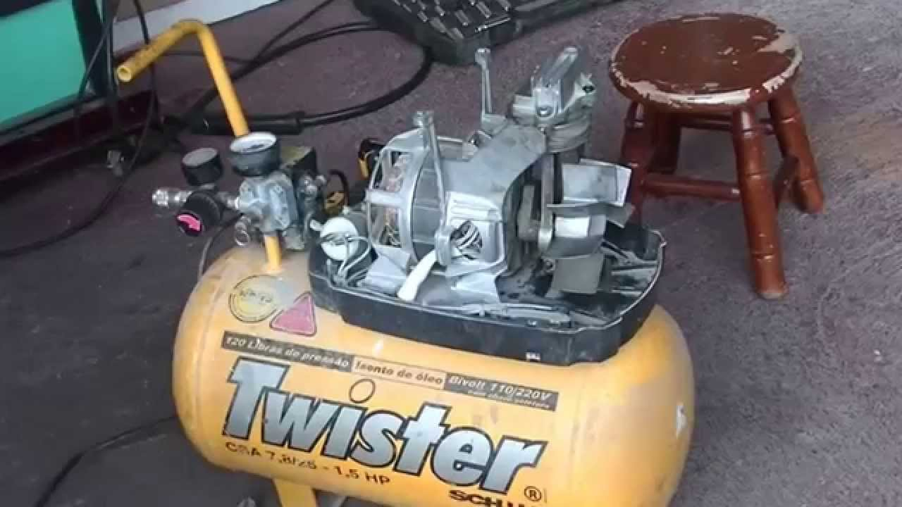Air Compressor Conversion Using A Refrigerator Compressor Youtube
