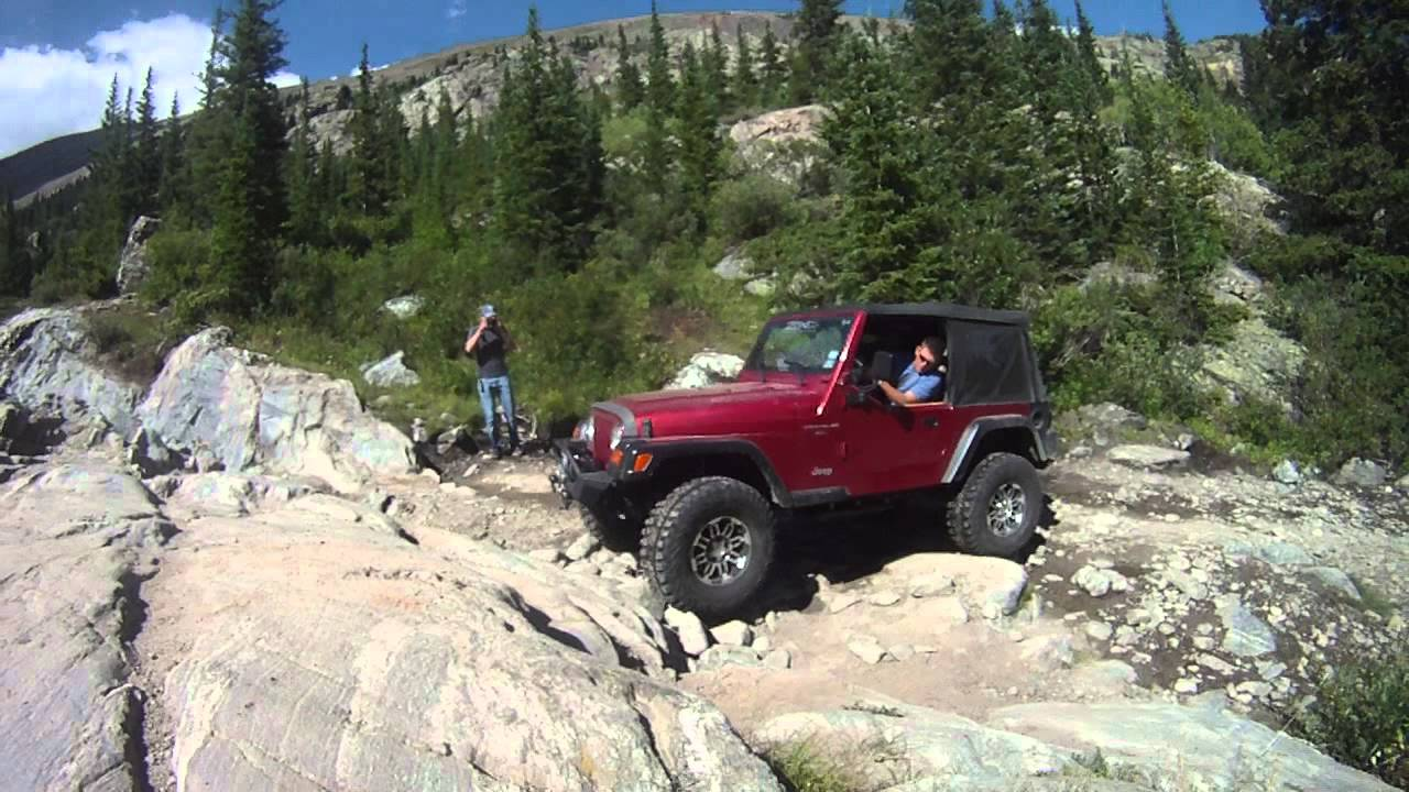 Jeep Tj Wheeler Lake Trail Colorado Second Obstacle Youtube