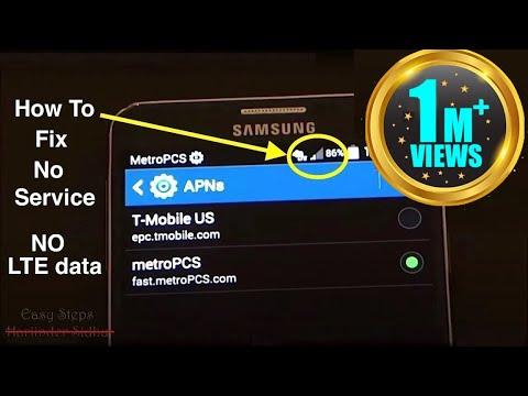 How to Fix No Service | No 4G LTE data | metroPCS APN Settings