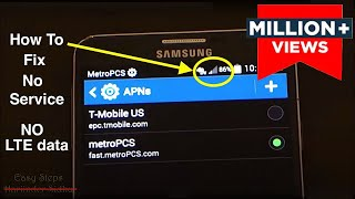 How to Fix No Service | No 4G LTE data | metroPCS APN Settings thumbnail
