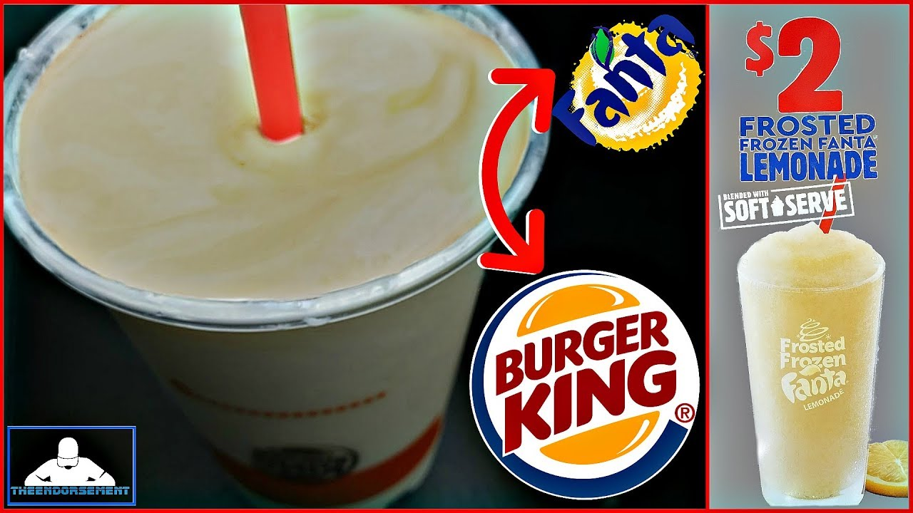 Burger King® | Frosted Frozen Fanta® Lemonade Review! 🍧🍦🍋 - YouTube