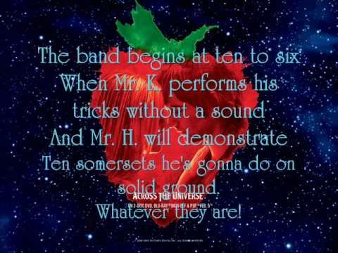 Being For The Benefit Of Mr Kite - Eddie Izzard {Lyrics}