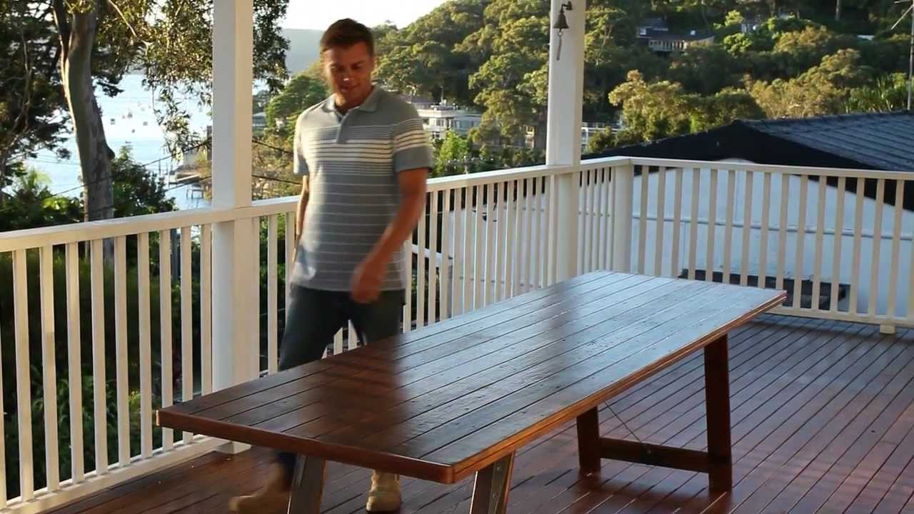 How to Prepare Oil Your Exterior Timber Furniture YouTube