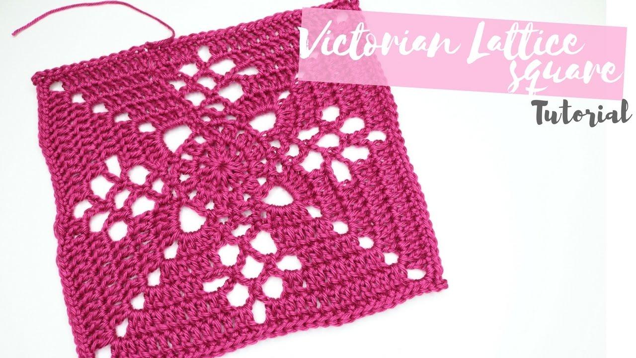 Crochet Victorian Lattice Square Tutorial Bella Coco Youtube