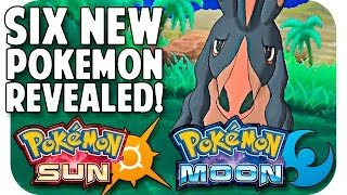 POKEMON SUN & MOON SIX NEW POKEMON REVEALED! Trailer Breakdown w/ TheKingNappy!