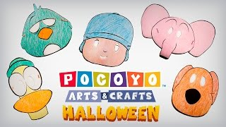 Pocoyo Arts & Crafts: Halloween Masks! [Ep. 4]