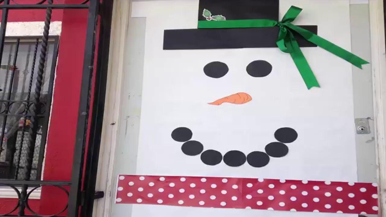 como decorar una puerta navide a youtube