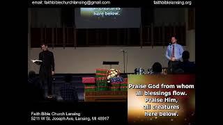 """Thanksgiving"" - Sunday Morning Stream - 22 November 2020"