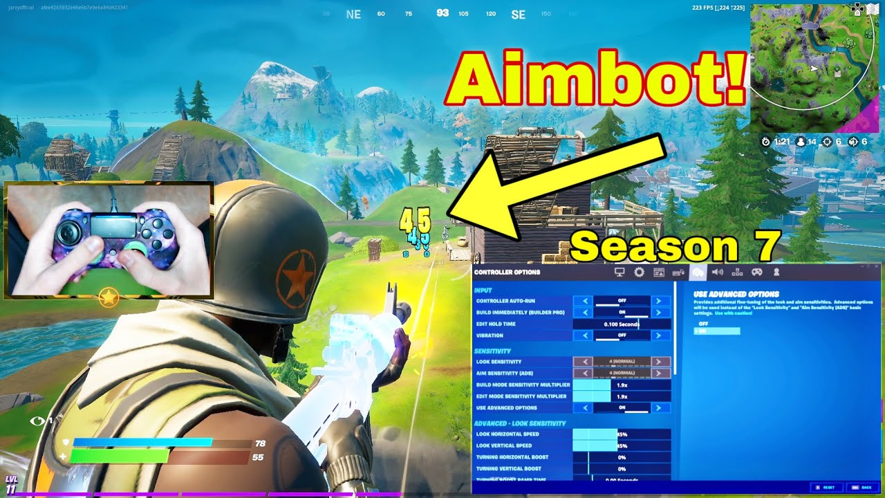 """""""MOOD"""" (ft. Season 7) with Handcam + Best Linear Aimbot Controller Settings for (PS5/PS4/XBOX/PC)"""
