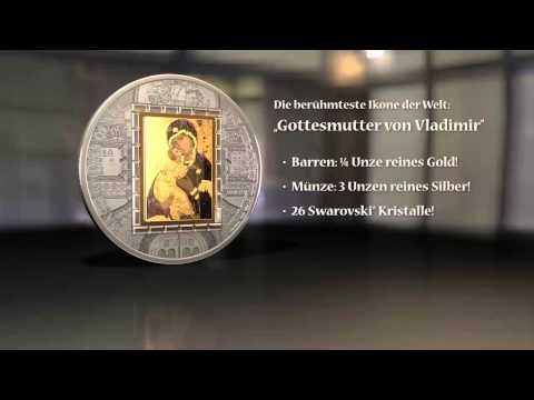 Icon Virgin of Vladimir Masterpieces of Art Cook Islands 2013 20$ 3oz Silver & Gold Coin