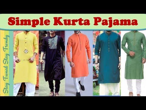 Indian Ethnic/traditional Men's Wear | Simple Kurta Pajama Design For Man | Indian Festive Lookbook