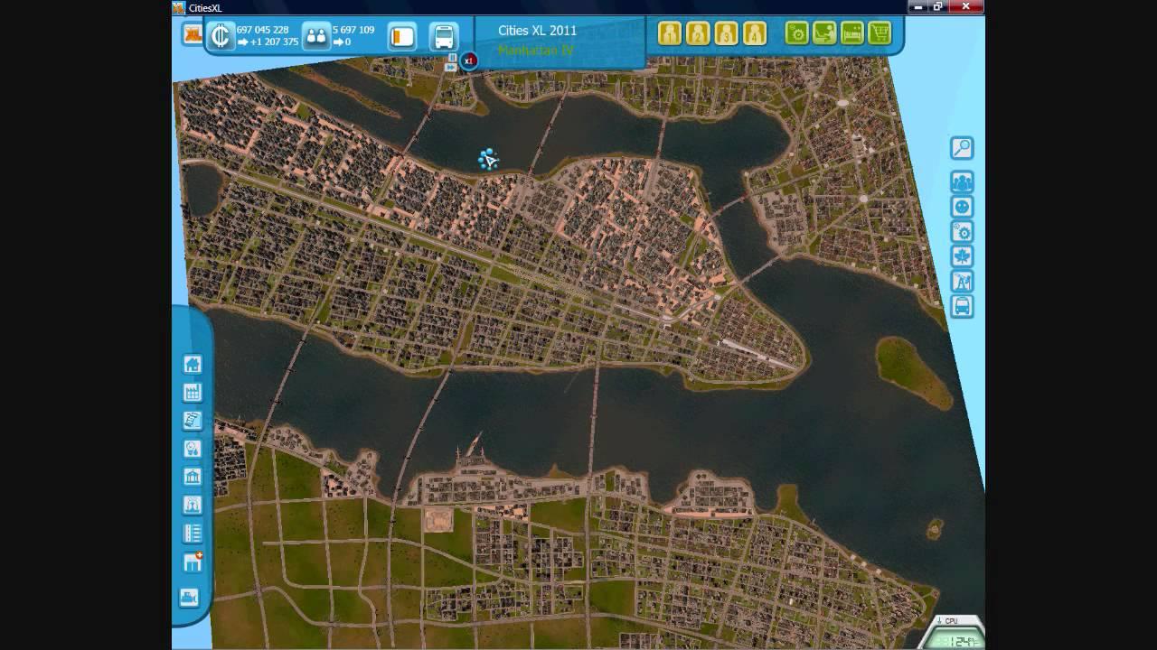 Cities XL  Gameplay Manhattan Pt  YouTube - New york map cities xl