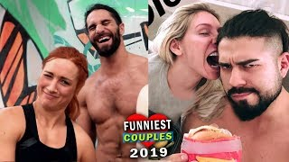 10 Funniest WWE Couples 2019 - Seth Rollins & Becky Lynch, Charlotte Flair & Andrade