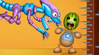 ALIENS vs WATERMELON BUDDY | Kick The Buddy | Bananos Gameplay