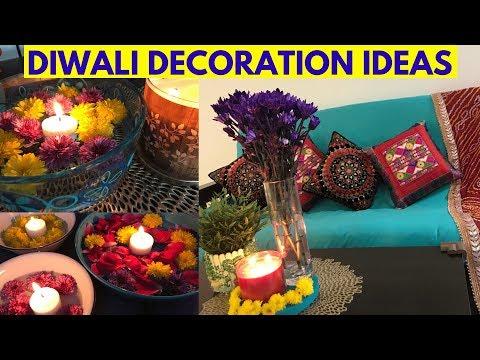 Indian House #Diwali2019 Decoration in USA   Easy & Budget Friendly Diwali Decor Ideas