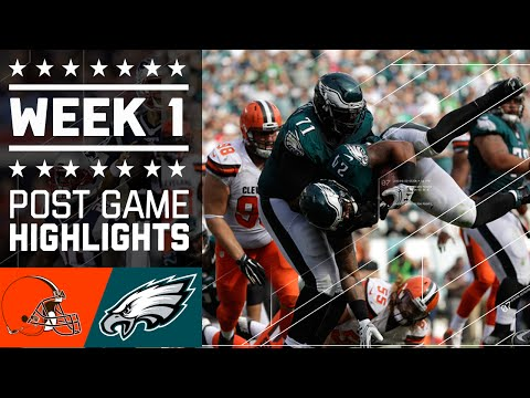 Browns vs. Eagles (Week 1) | Game Highlights | NFL