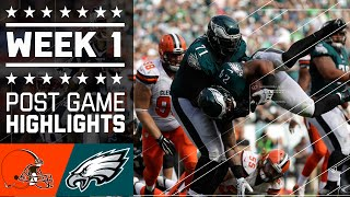 Browns vs. Eagles | NFL Week 1 Game Highlights