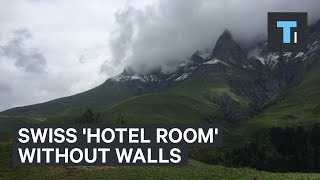 Swiss 'hotel room' without walls