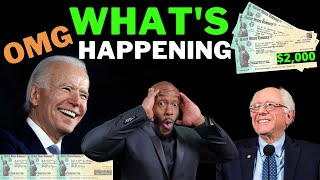 WOW!! BIDEN's $1400 + $2000 Second Stimulus Check Update [NEW STIMULUS SUPPORT]