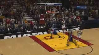 NBA 2K14 How to do Self Off Glass Oop (Tutorial)