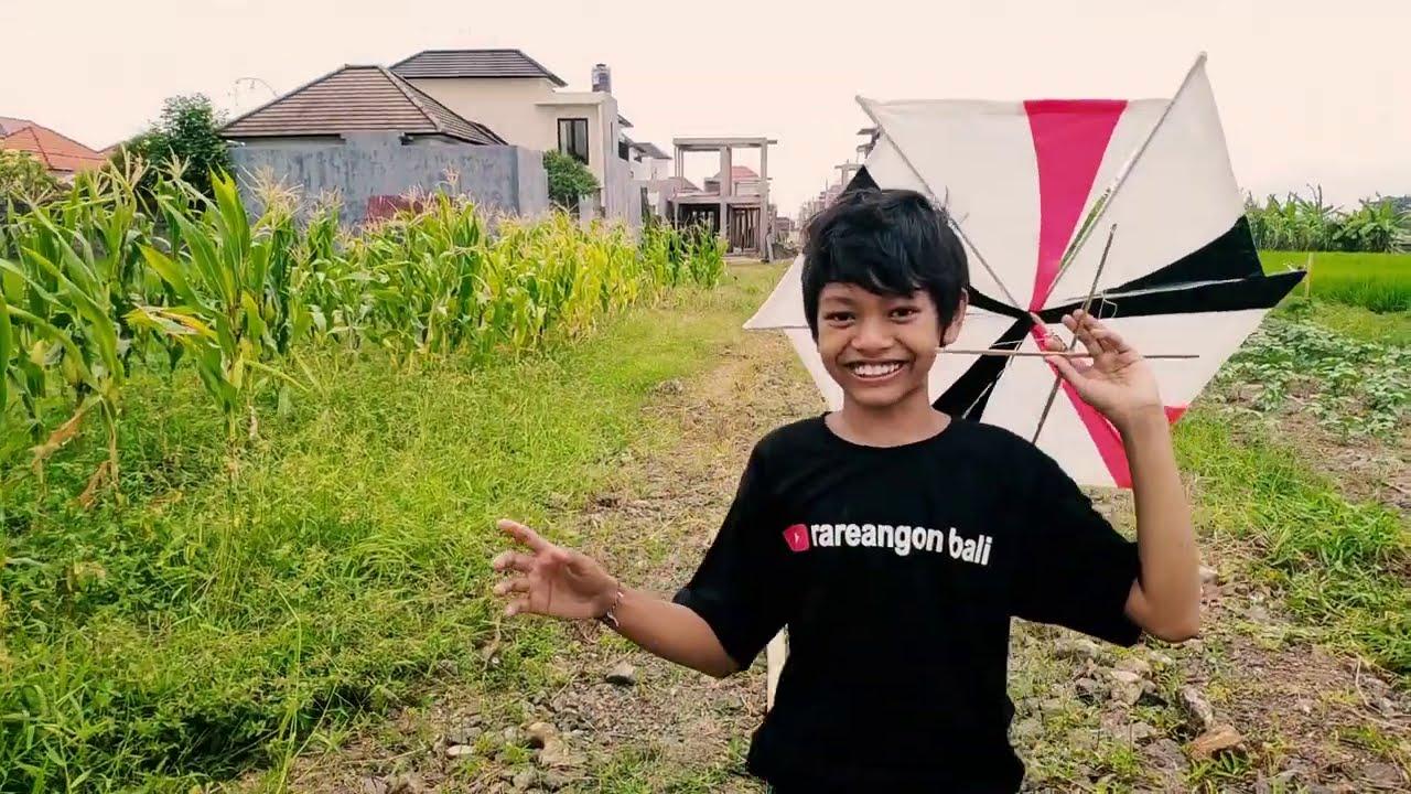 Bocil dengan layang-layang KINCIR | Rareangon Bali