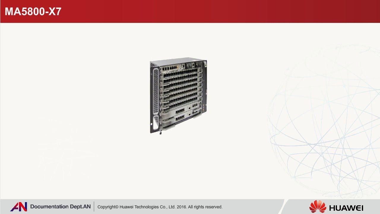 HUAWEI Access Network-MA5800-X7 Service Subrack Hardware Quick View