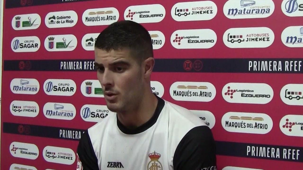 Mikel Pradera, tras el CD Calahorra 2 - 4 Real Unión
