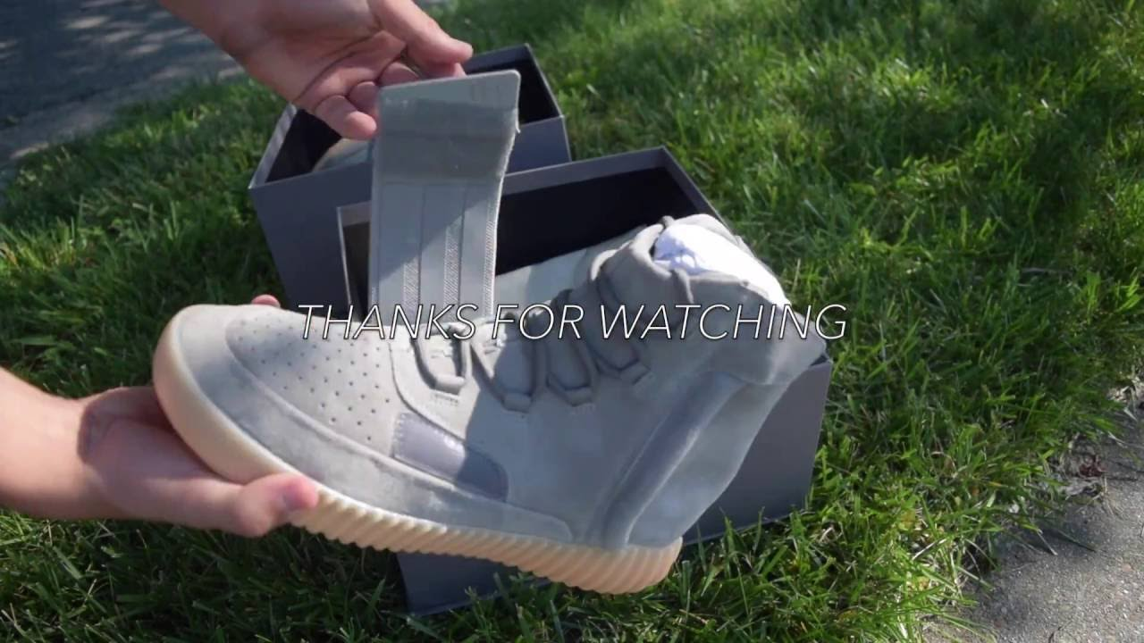 7c21393047bc1 2016 Adidas Yeezy Boost 750 Grey  Gum Review + On feet (Glo in the dark)