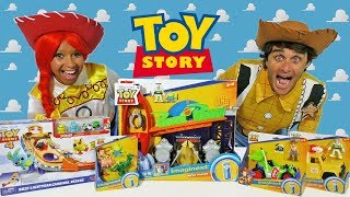 Toy Story Imaginext Toy Challenge With Jessie & Woody l ! || Toy Review || Konas2002
