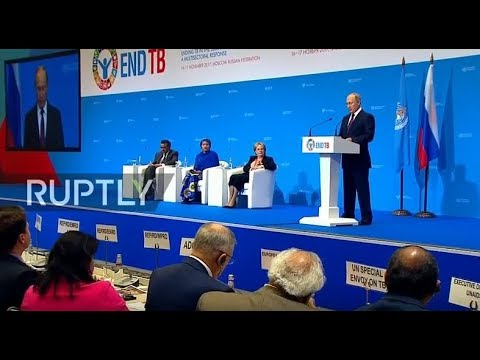 LIVE: Putin delivers speech at opening of WHO conference