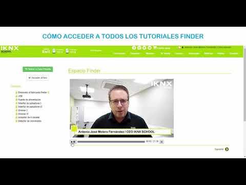 Acceso a los tutoriales de Finder