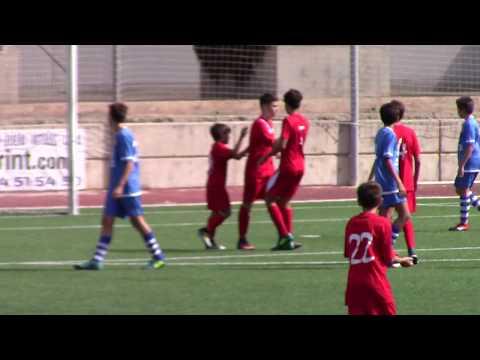 Gol Carlos Pastor. CE Espanya 3 - Mercat Santa Catalina 3. Infantil 2ª Regional 17/18