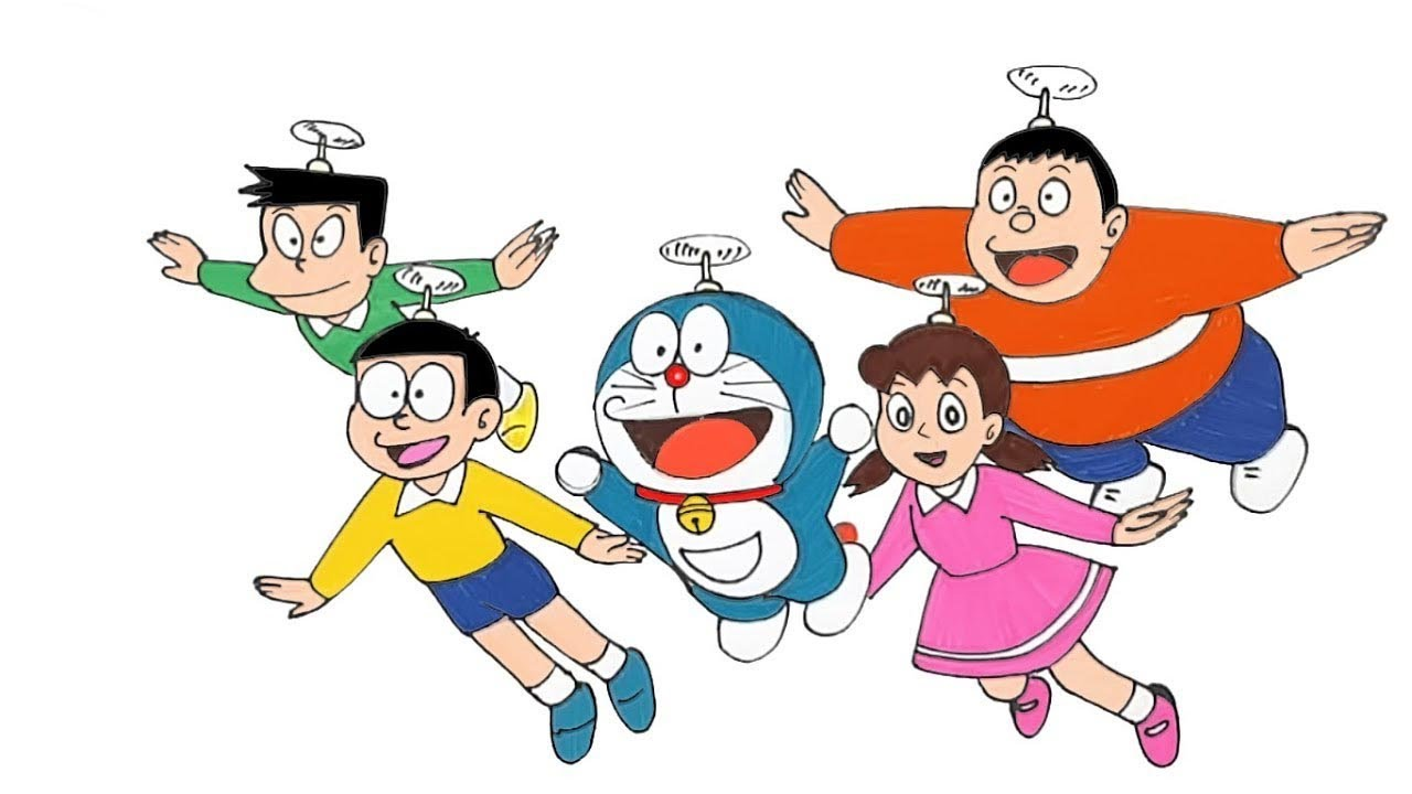 how to draw cartoon characters doraemon step by step youtube