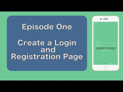 Swift 4 - Ep1: Login And Registration Tutorial. (iOS 11)