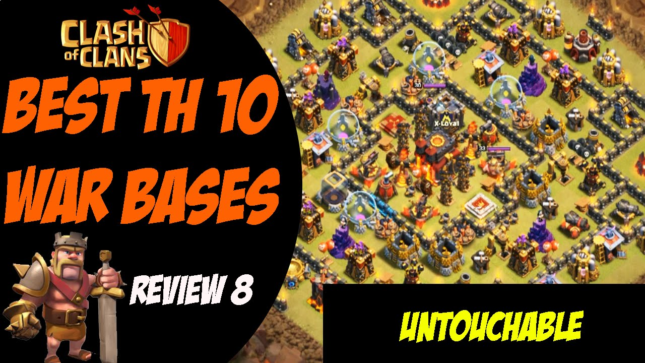 Strongest th10 base post summer update best th10 war base design 8